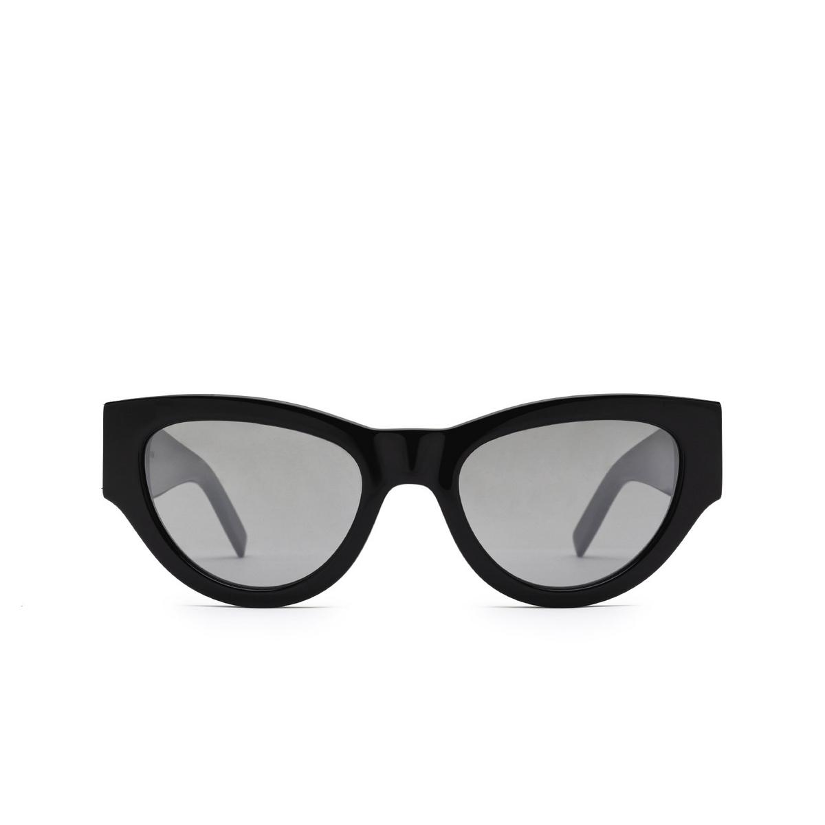 Saint Laurent® Cat-eye Sunglasses: SL M94 color Black 002 - front view.
