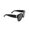 Saint Laurent® Butterfly Sunglasses: SL M95/F color Black 001 - product thumbnail 2/3.
