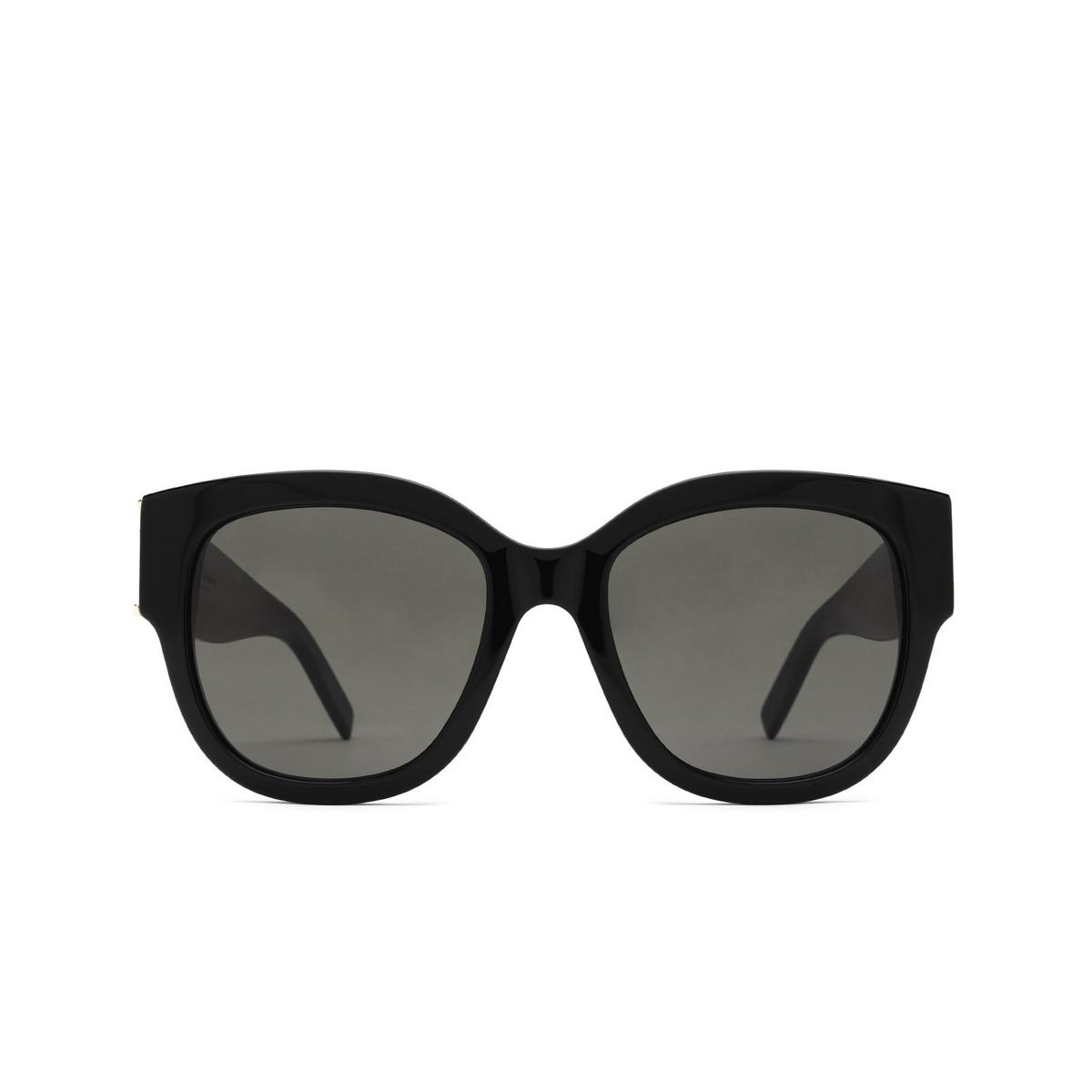 Saint Laurent® Butterfly Sunglasses: SL M95/F color Black 001 - front view.