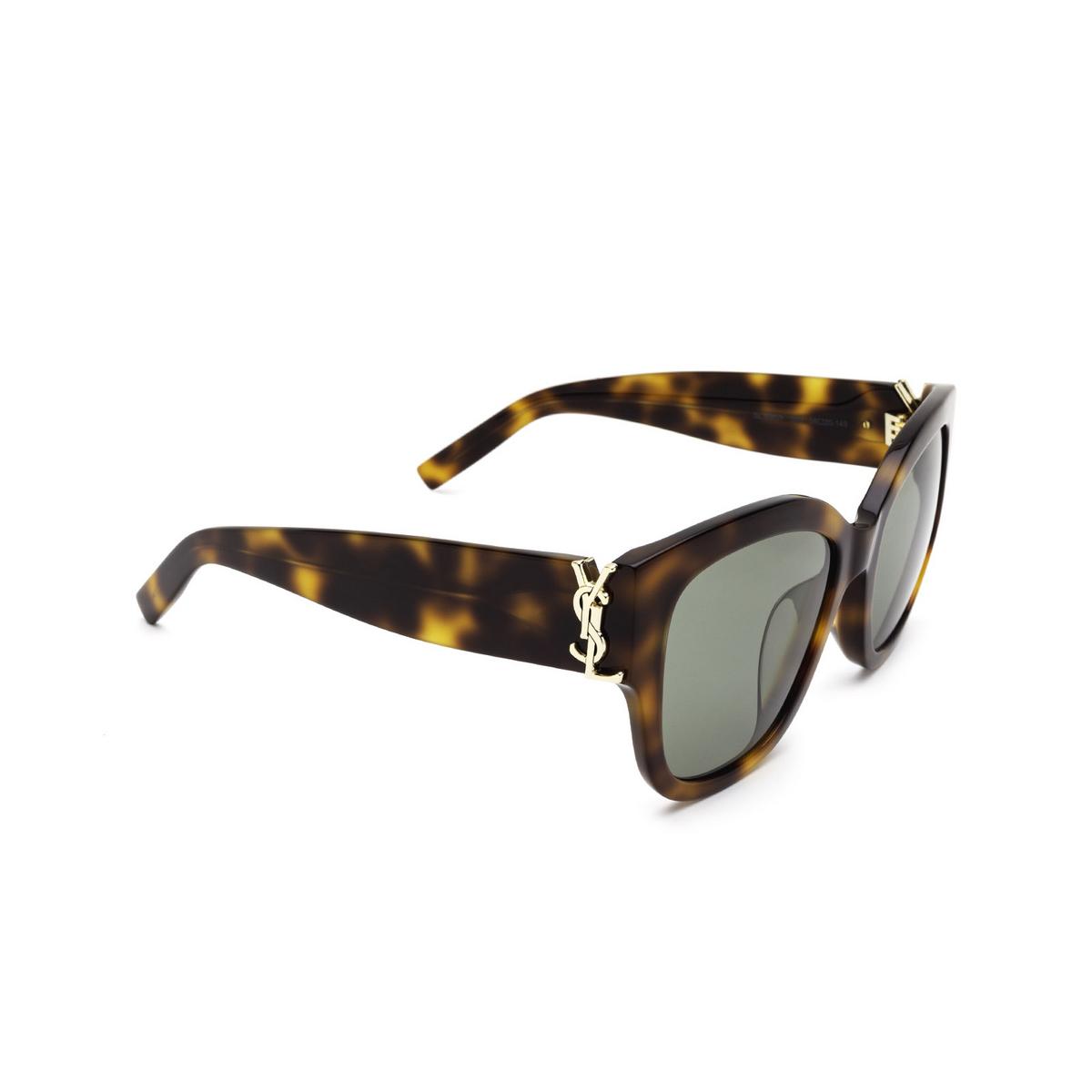 Saint Laurent® Butterfly Sunglasses: SL M95/F color Havana 003 - three-quarters view.