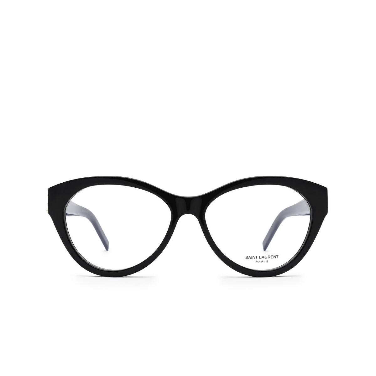 Saint Laurent® Cat-eye Eyeglasses: SL M96 color Black 001 - front view.