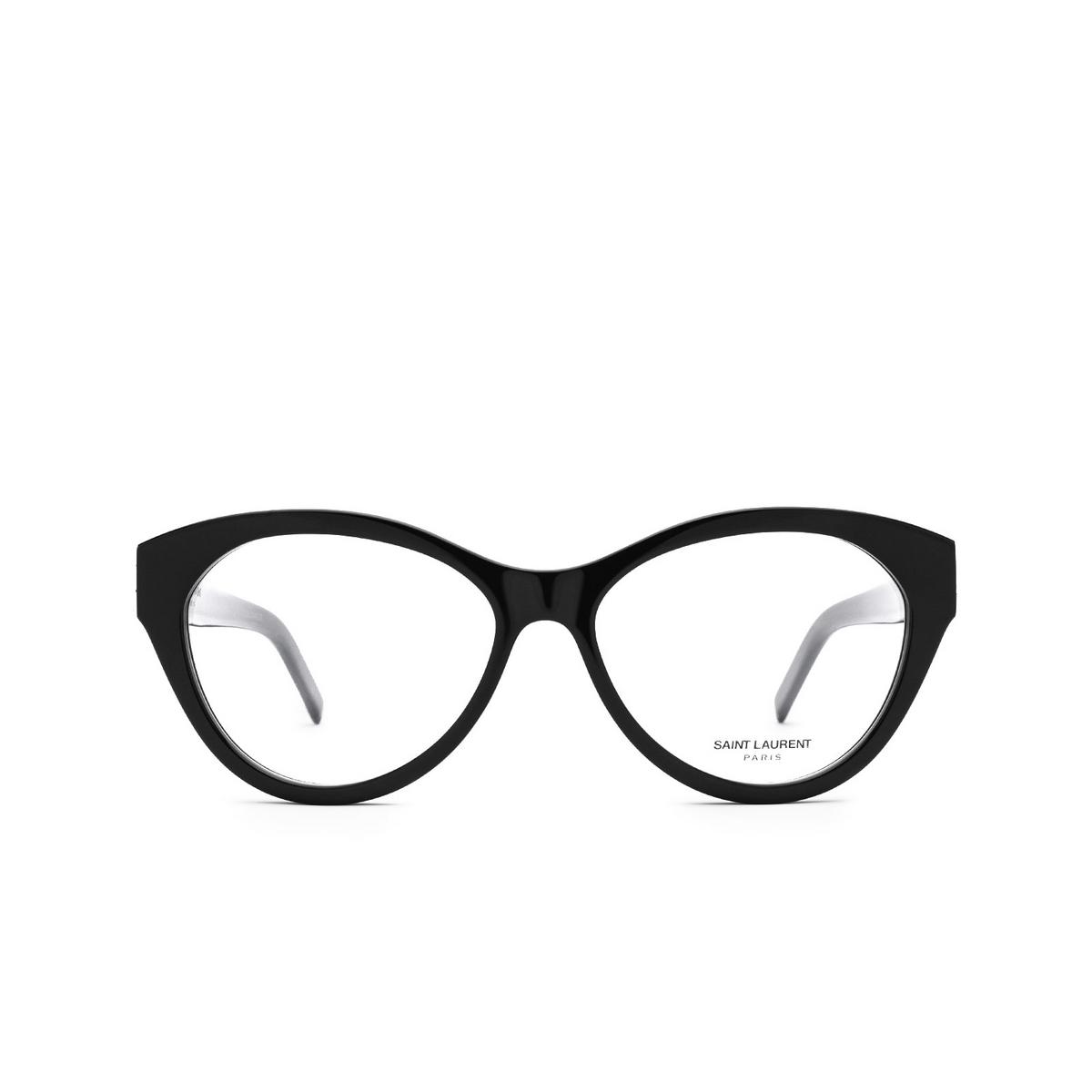 Saint Laurent® Cat-eye Eyeglasses: SL M96 color Black 002 - front view.