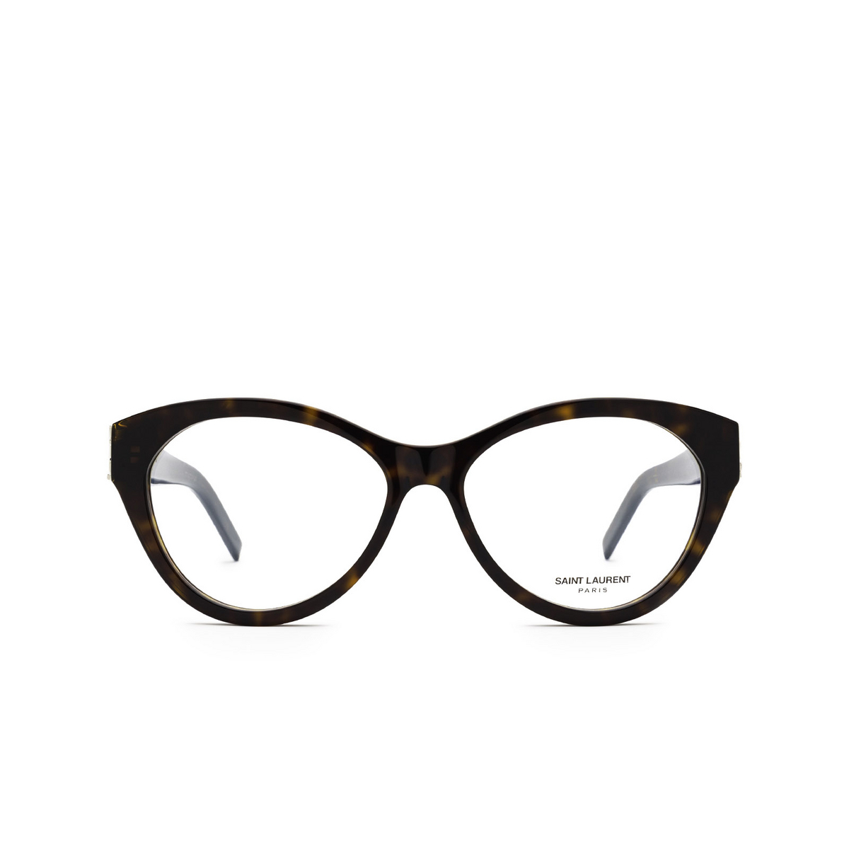 Saint Laurent® Cat-eye Eyeglasses: SL M96 color Dark Havana 004 - front view.