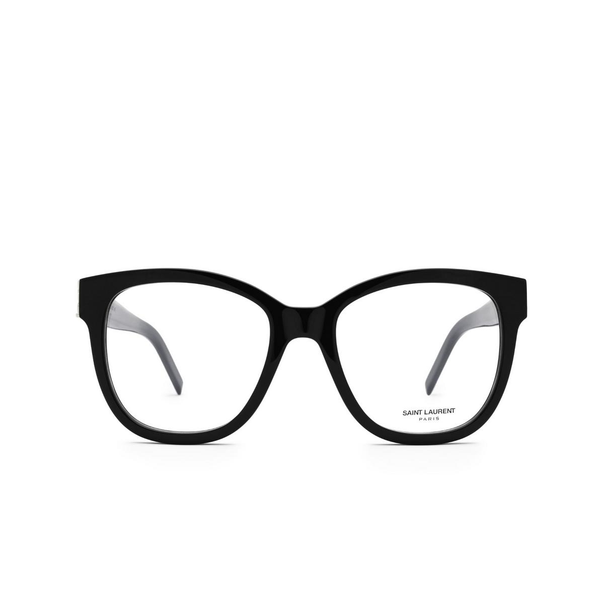 Saint Laurent® Square Eyeglasses: SL M97 color Black 001 - front view.