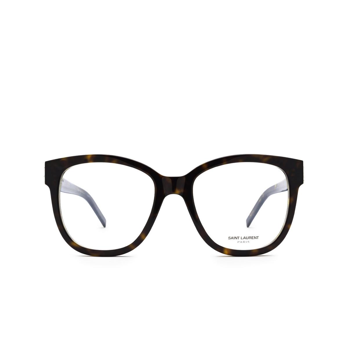 Saint Laurent® Square Eyeglasses: SL M97 color Dark Havana 004 - front view.