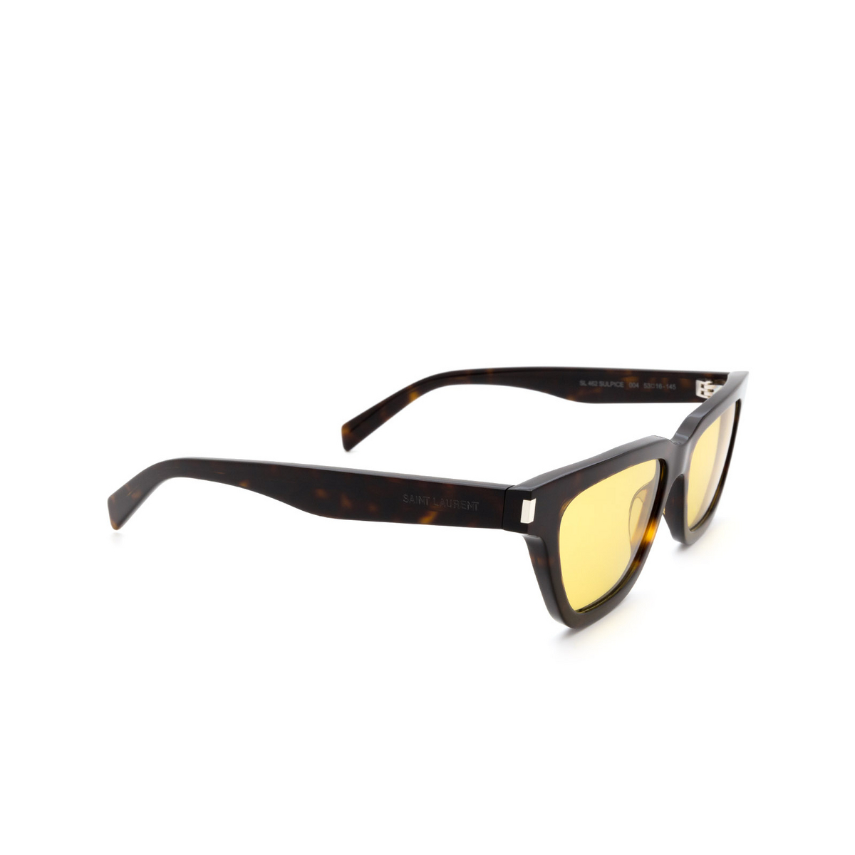Saint Laurent® Cat-eye Sunglasses: Sulpice SL 462 color Havana 004 - three-quarters view.