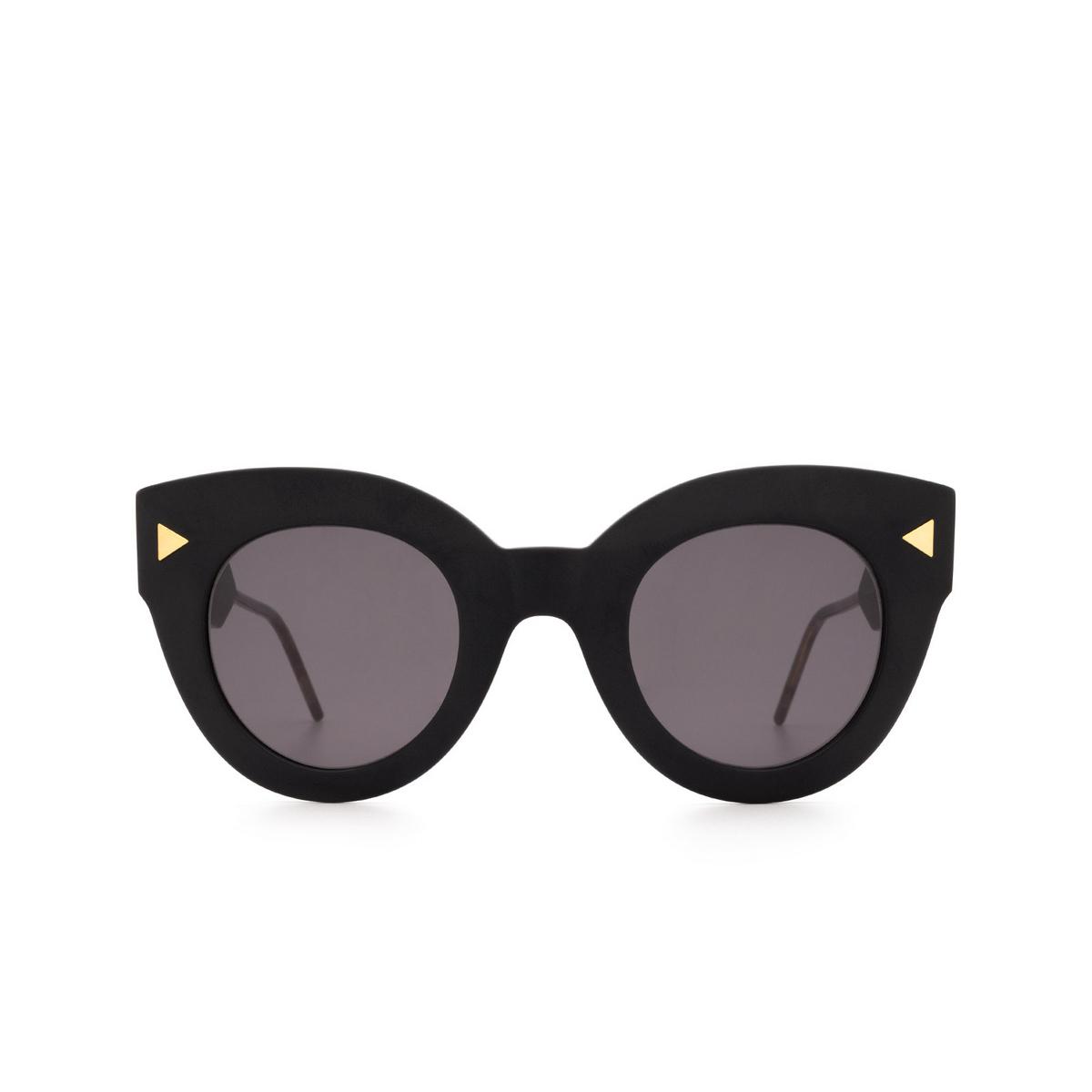 Soya® Cat-eye Sunglasses: Alma color Matte Black Bkm-fs - front view.
