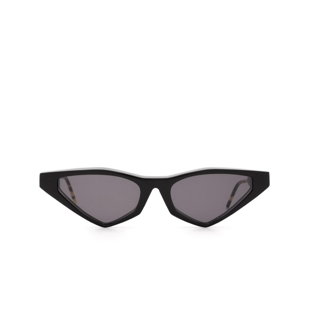 Soya® Cat-eye Sunglasses: Ann color Shiny Black Blk-fs - front view.