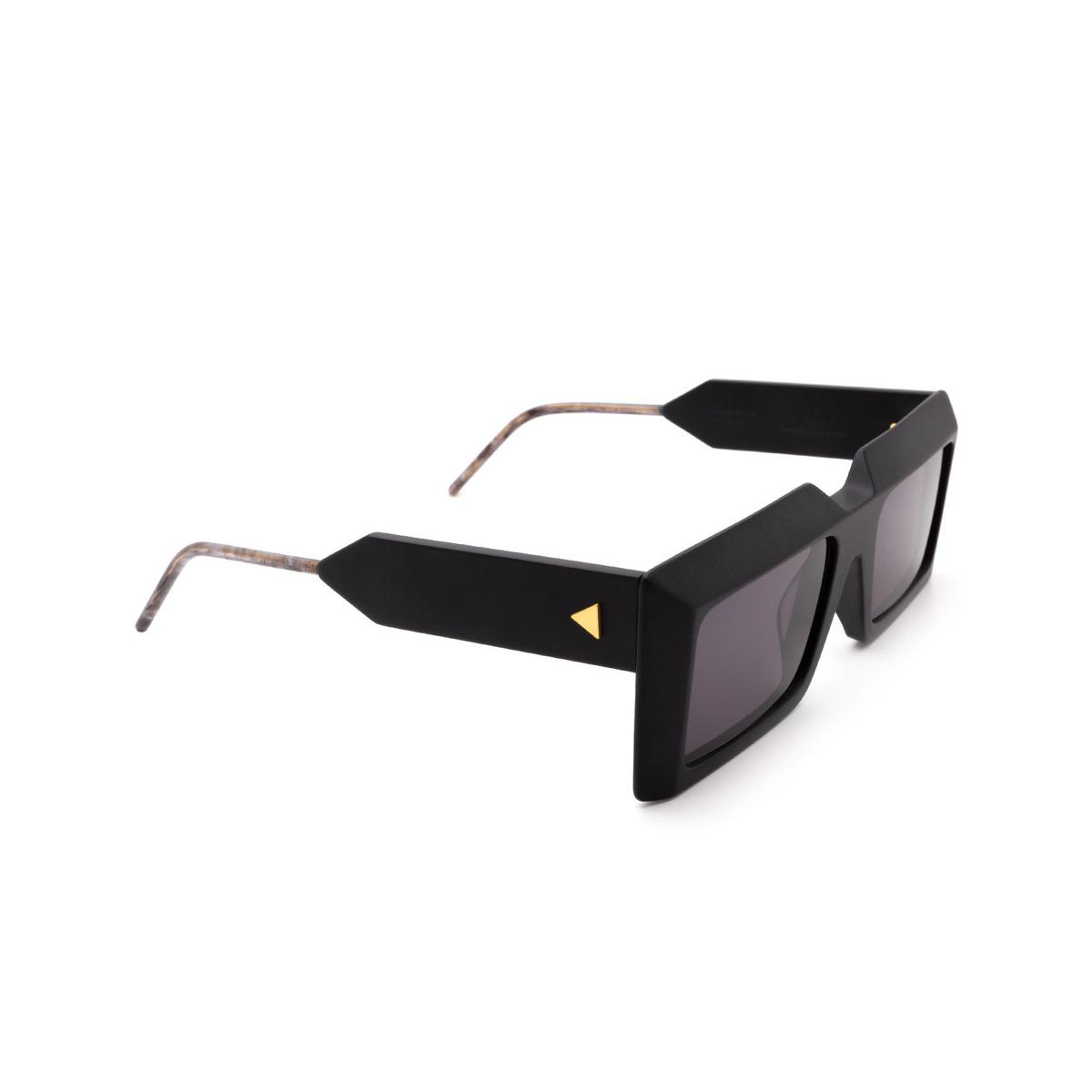 Soya® Rectangle Sunglasses: Ezra color Matte Black Bkm-fs - three-quarters view.