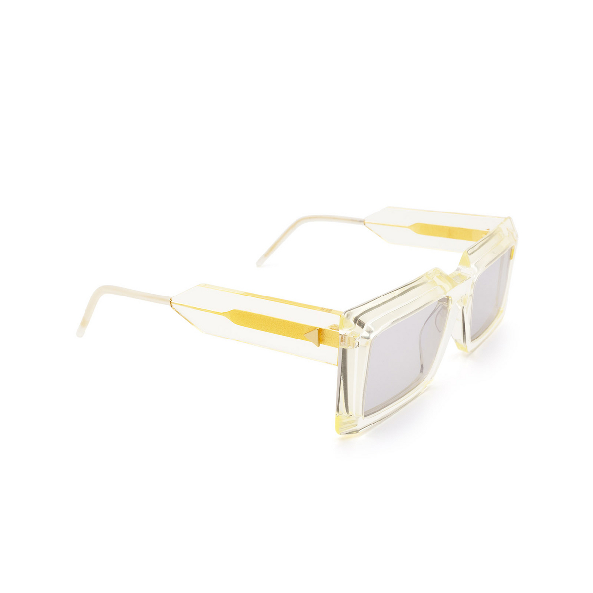Soya® Rectangle Sunglasses: Ezra color Crystal Light Yellow Cly-lg - three-quarters view.