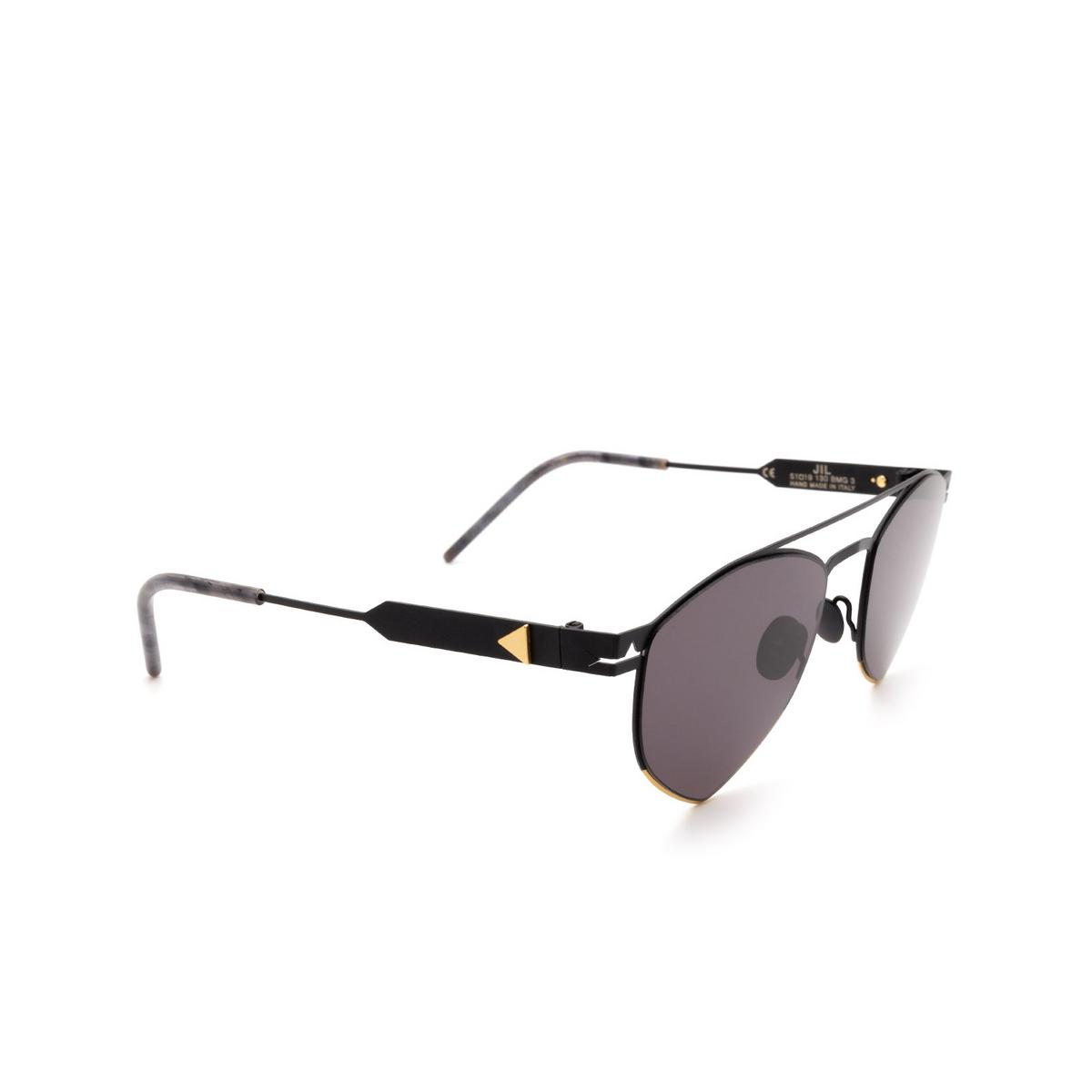 Soya® Irregular Sunglasses: Jil color Matte Black & Shiny Gold Bmg_fs.
