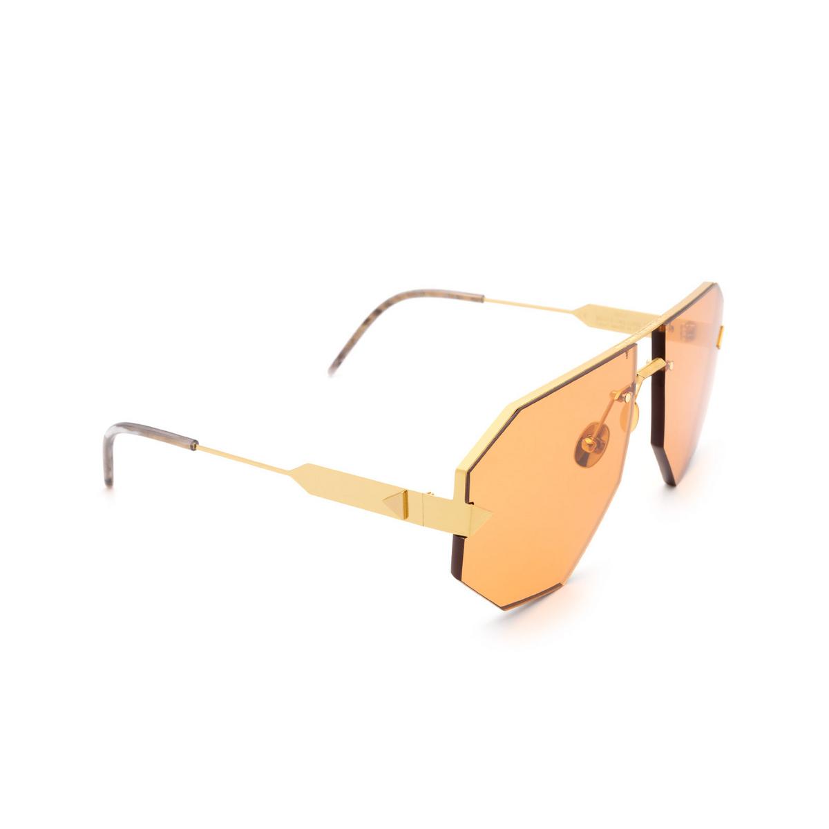 Soya® Irregular Sunglasses: Raf color Brushed Gold G-org.