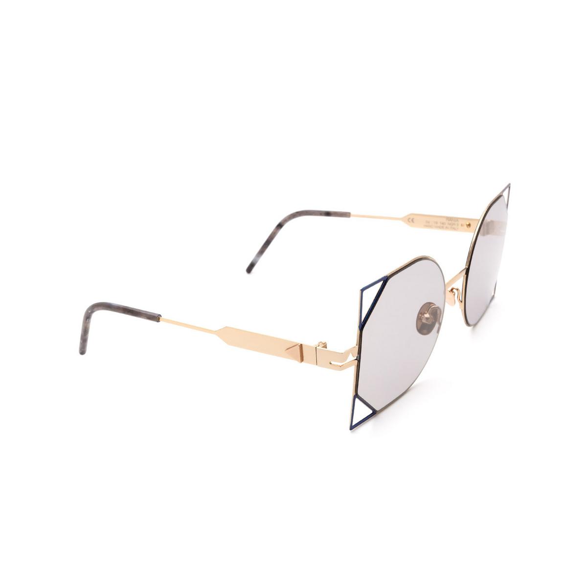 Soya® Irregular Sunglasses: Rania color Shiny Gold Rose & Shiny Navy Ngr-lg.