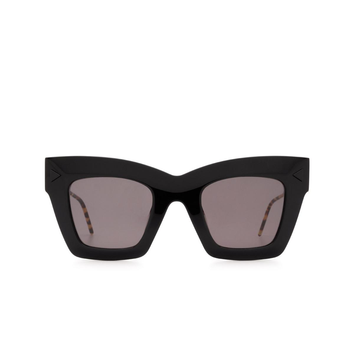 Soya® Square Sunglasses: Victoria color Shiny Black Blk-fs - front view.