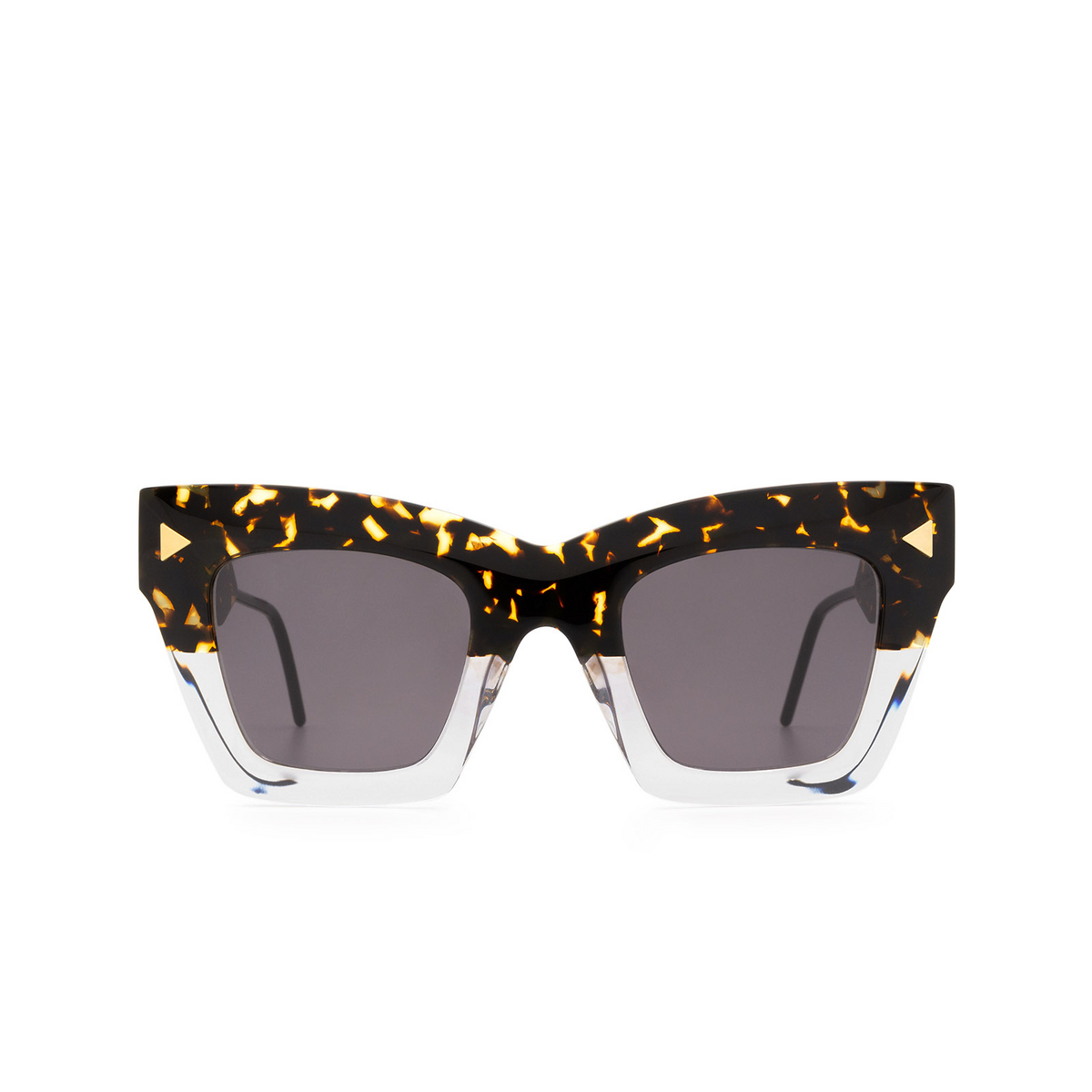 Soya® Square Sunglasses: Victoria color Shiny Havana & Crystal Hsc-fs - front view.