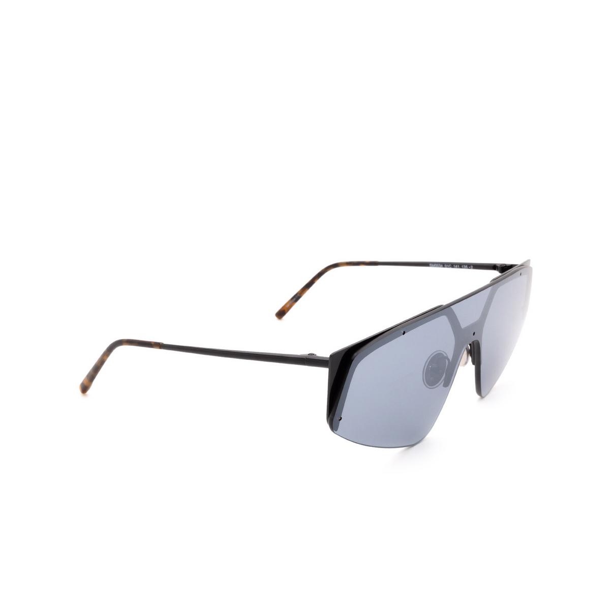 Sportmax® Mask Sunglasses: SM0034 color Black 01C - three-quarters view.