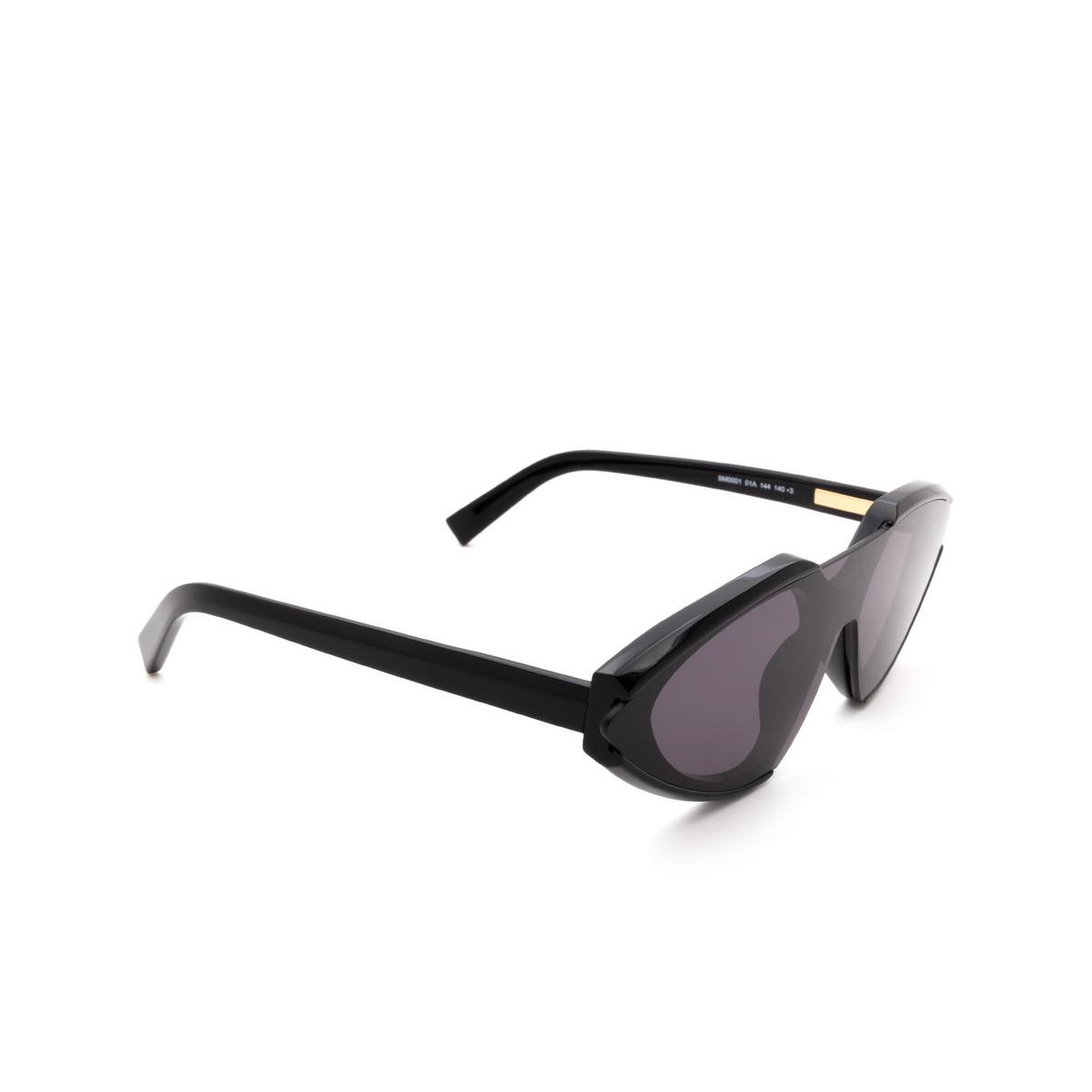 Sportmax® Irregular Sunglasses: SM0001 color Black 01A.