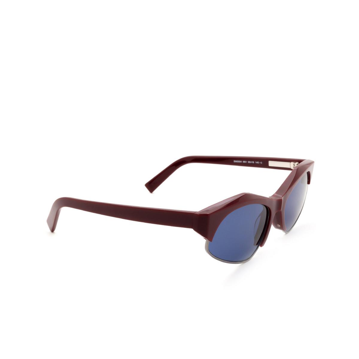 Sportmax® Irregular Sunglasses: SM0004 color Shiny Red 66V.