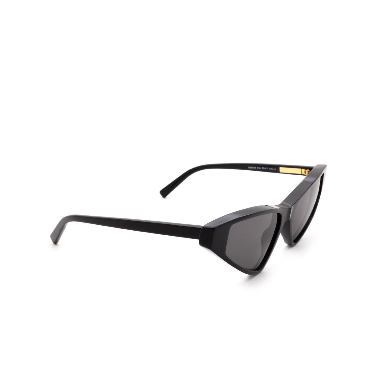 Sportmax® Cat-eye Sunglasses: SM0014 color Shiny Black 01A.