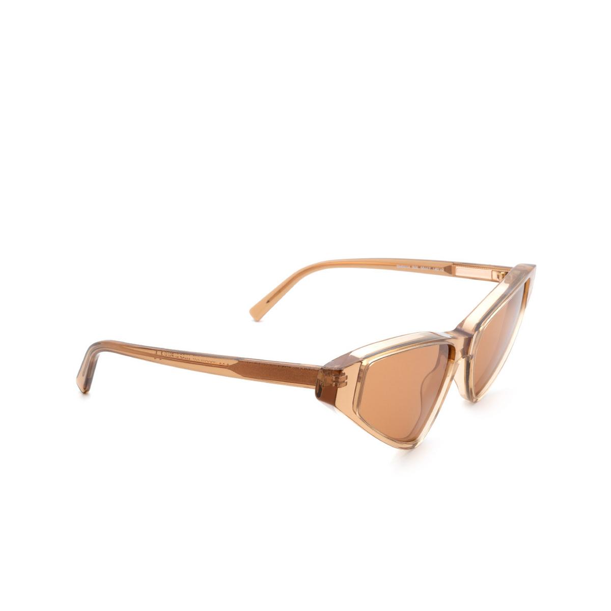 Sportmax® Cat-eye Sunglasses: SM0014 color Dark Brown 50E.