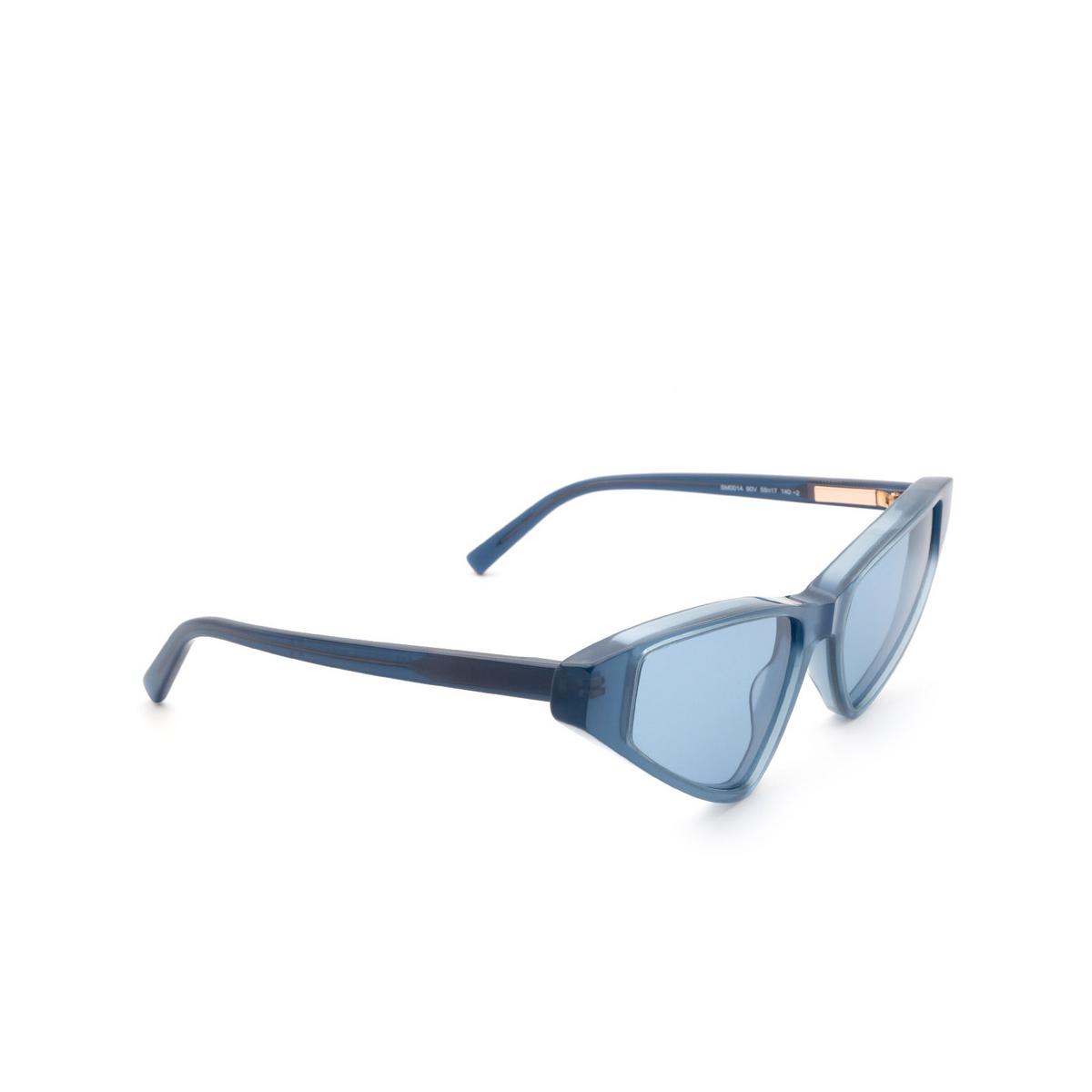Sportmax® Cat-eye Sunglasses: SM0014 color Shiny Blue 90V.