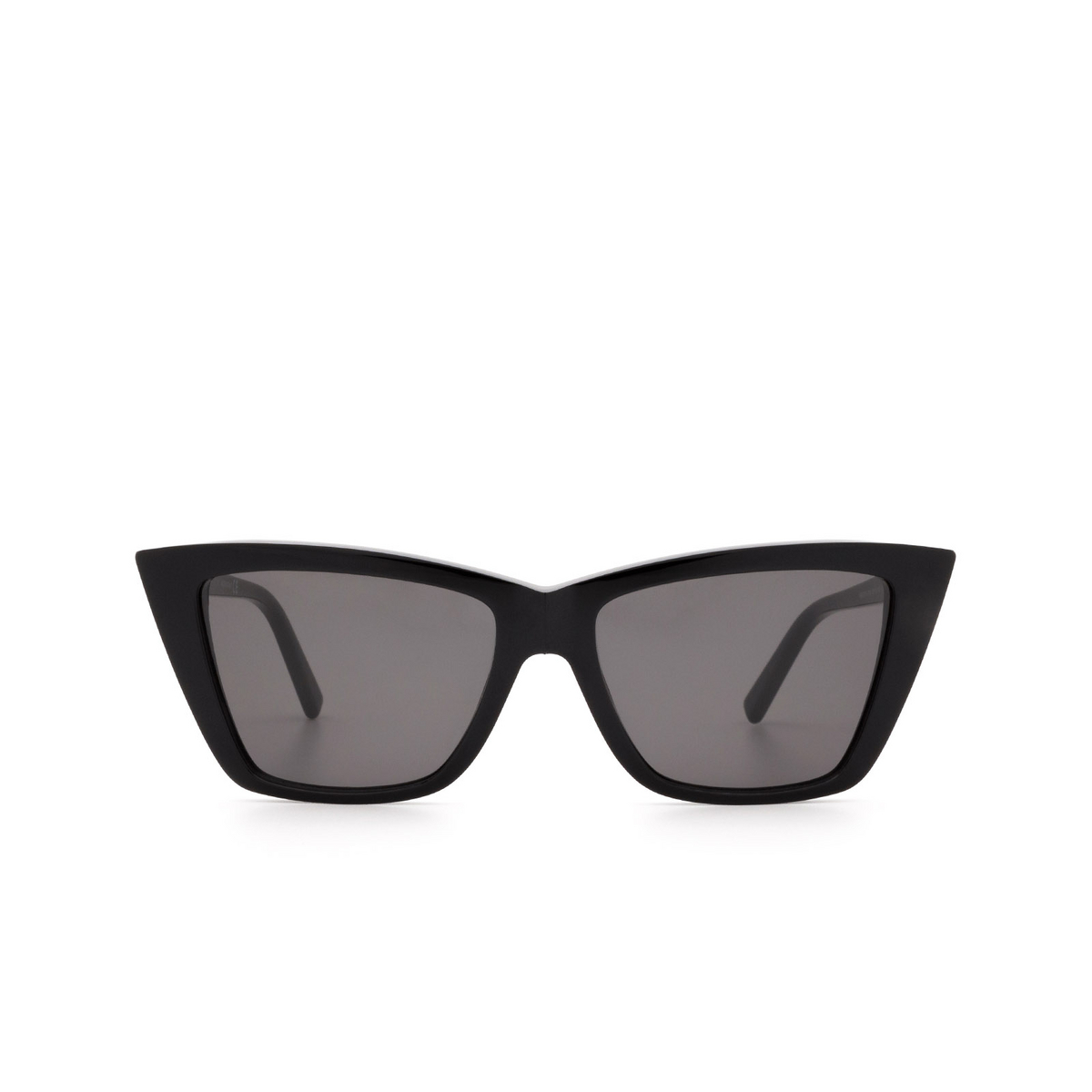 Sportmax® Butterfly Sunglasses: SM0015 color Shiny Black 01A - front view.