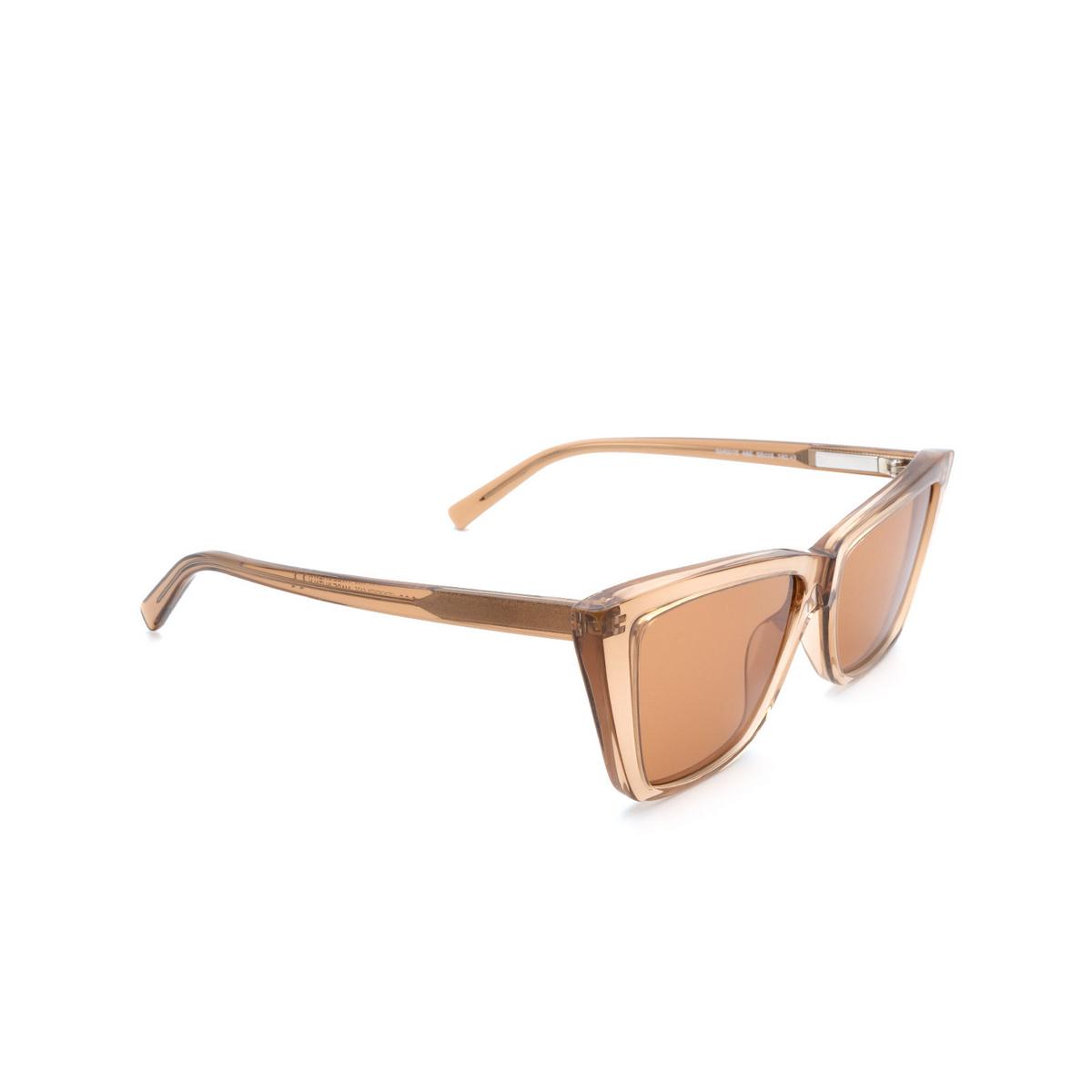 Sportmax® Butterfly Sunglasses: SM0015 color Dark Brown 48E - three-quarters view.