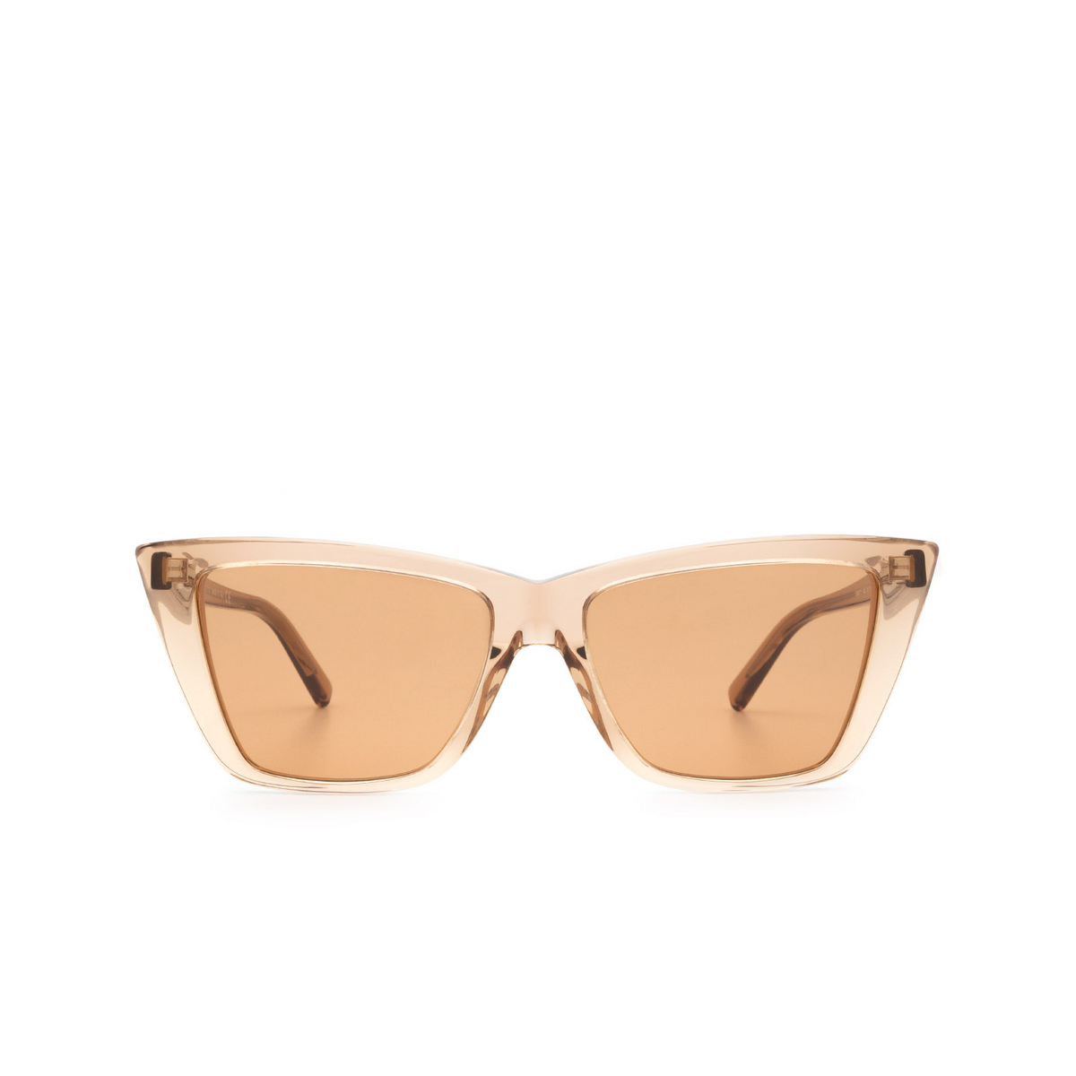 Sportmax® Butterfly Sunglasses: SM0015 color Dark Brown 48E - front view.