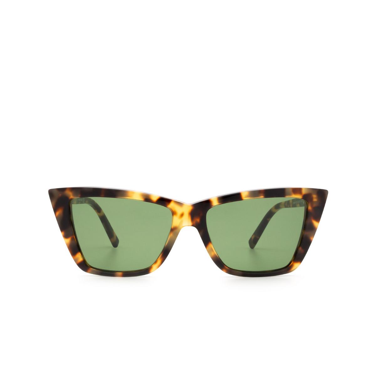 Sportmax® Butterfly Sunglasses: SM0015 color Dark Havana 52N - front view.