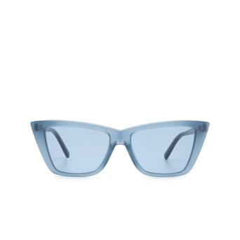 Sportmax® Butterfly Sunglasses: SM0015 color Shiny Blue 90V.