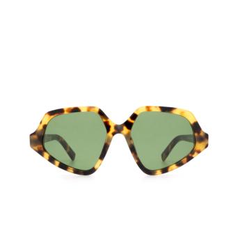 Sportmax® Irregular Sunglasses: SM0021 color Havana 55N.