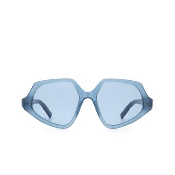 Sportmax® Irregular Sunglasses: SM0021 color Shiny Blue 90V.