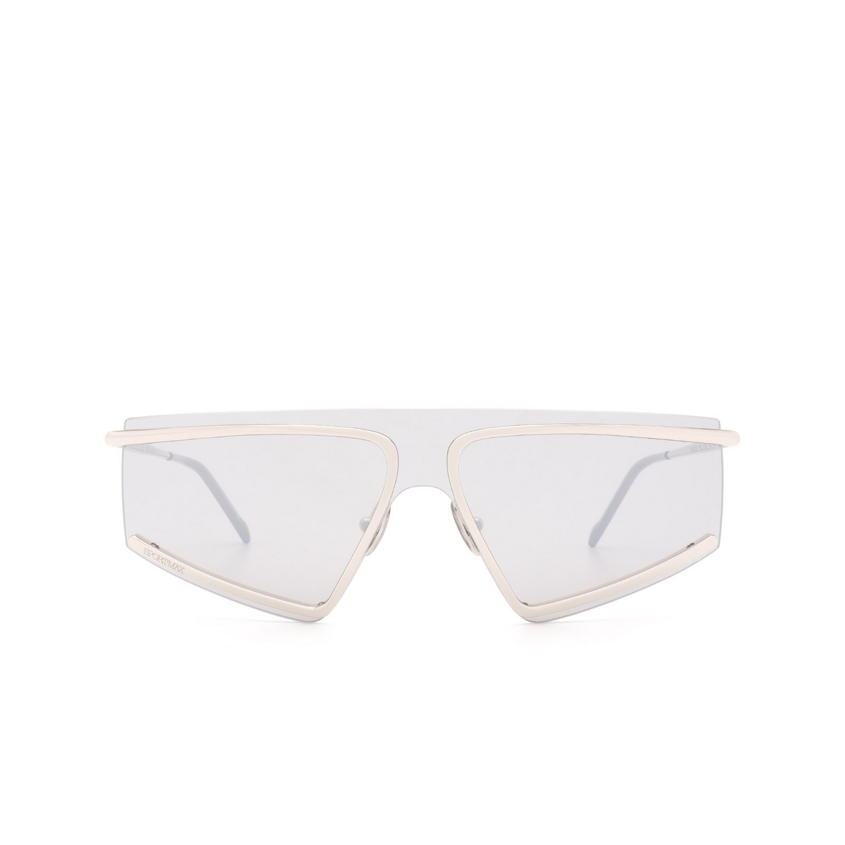 Sportmax® Mask Sunglasses: SM0023 color Shiny Palladium 16C - front view.
