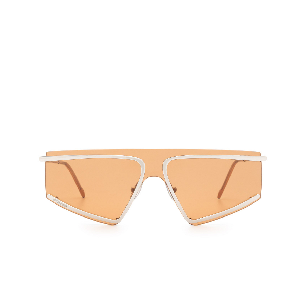 Sportmax® Mask Sunglasses: SM0023 color Shiny Palladium 16G - front view.