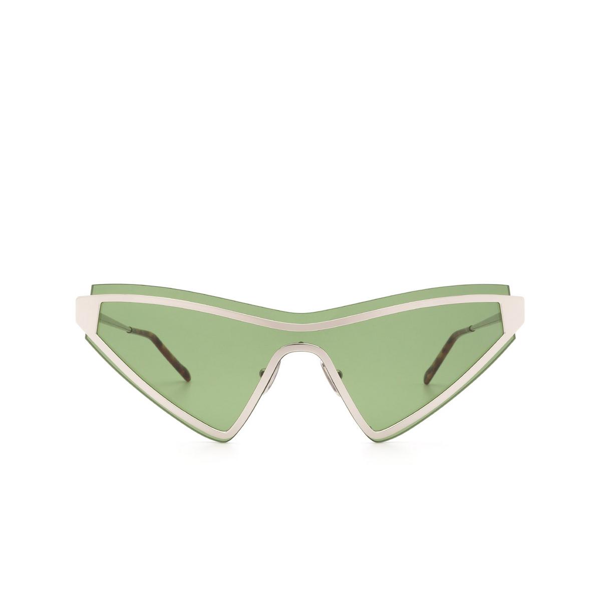 Sportmax® Cat-eye Sunglasses: SM0024 color Shiny Palladium 16N.