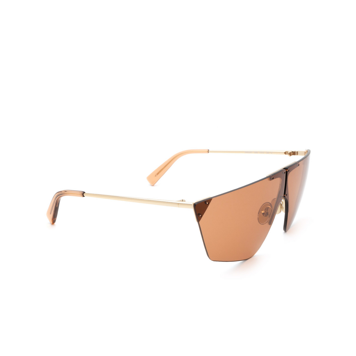Sportmax® Mask Sunglasses: SM0031 color Rose Gold 28E - three-quarters view.