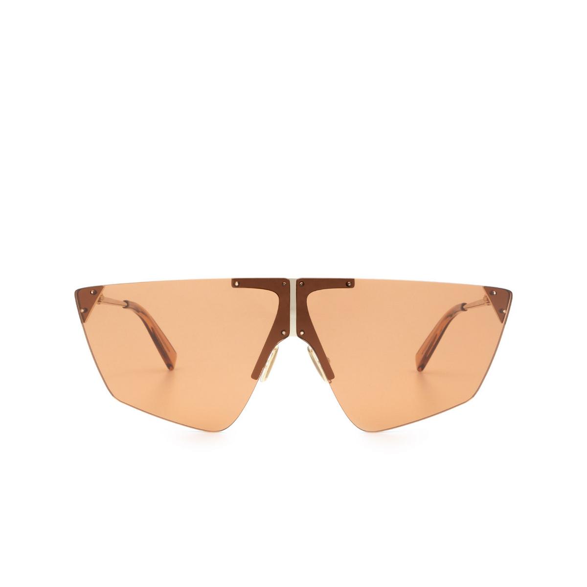 Sportmax® Mask Sunglasses: SM0031 color Rose Gold 28E - front view.
