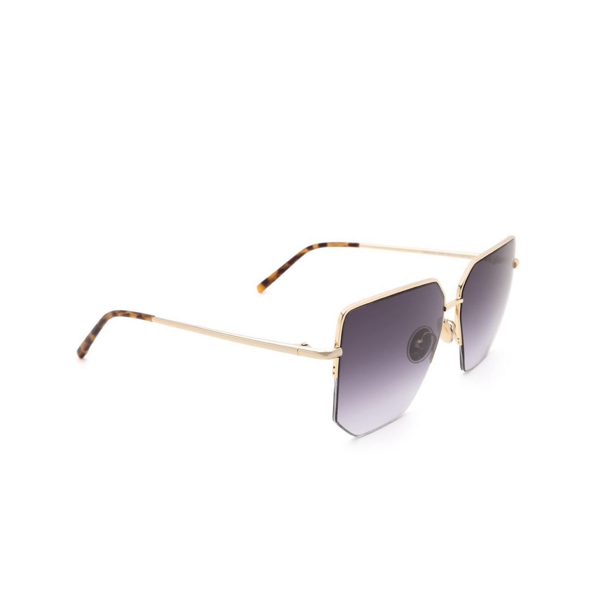 Sportmax® Irregular Sunglasses: SM0033 color Rose Gold 28B.