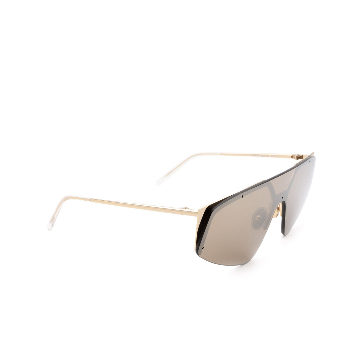 Sportmax® Mask Sunglasses: SM0034 color Gold 32G - three-quarters view.