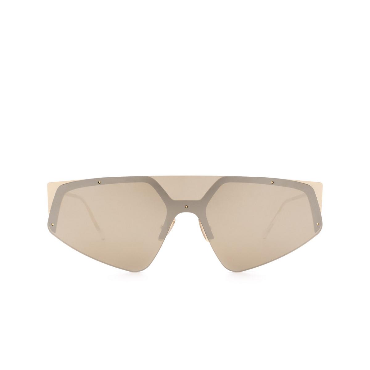 Sportmax® Mask Sunglasses: SM0034 color Gold 32G - front view.