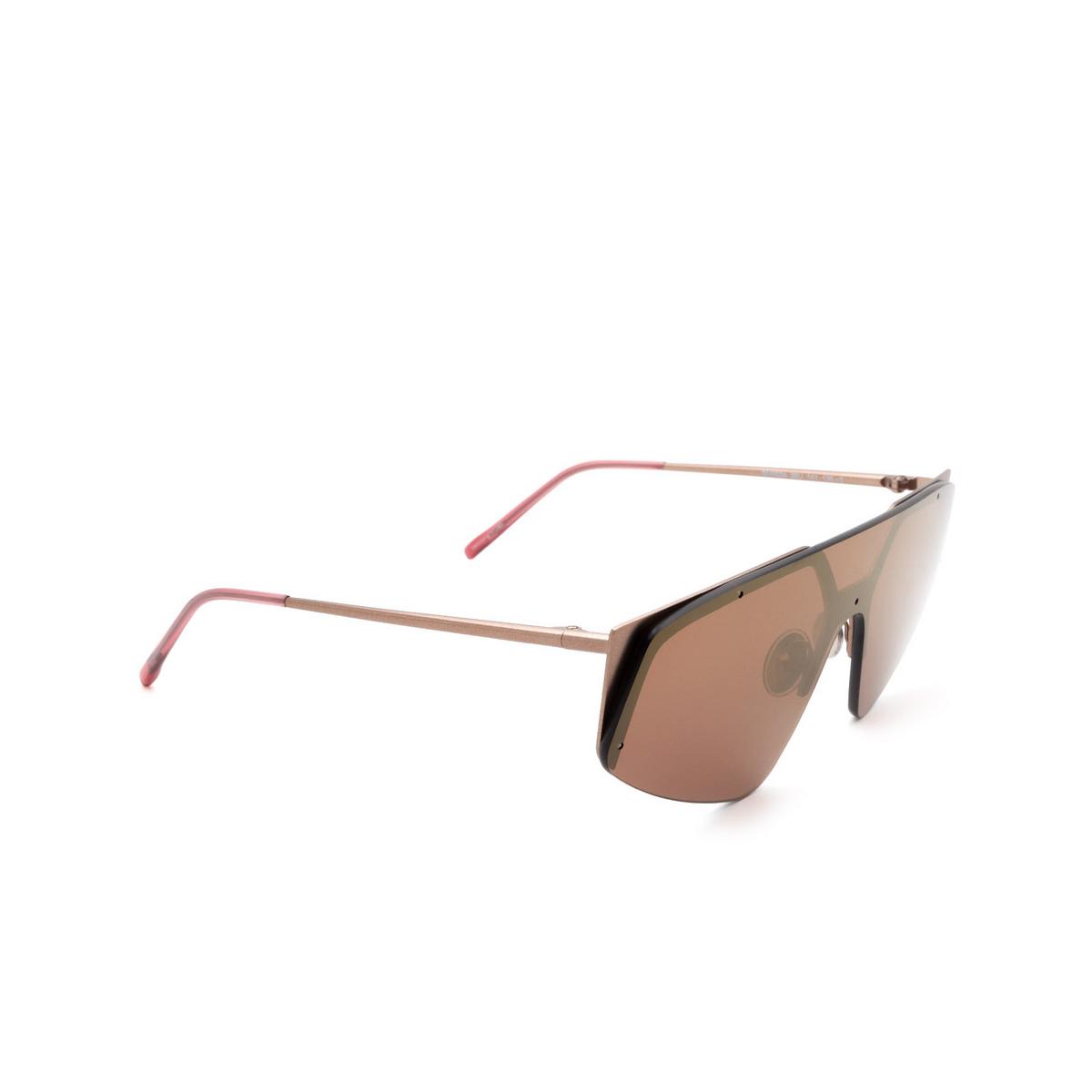 Sportmax® Mask Sunglasses: SM0034 color Bronze 38U - three-quarters view.