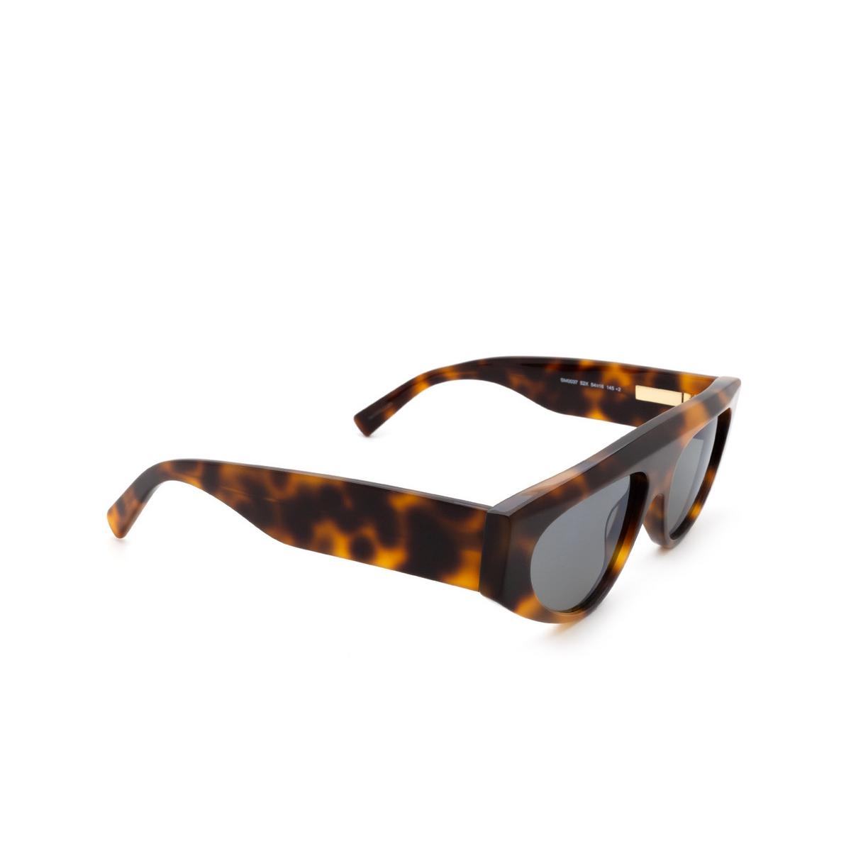 Sportmax® Irregular Sunglasses: SM0037 color Dark Havana 52X.