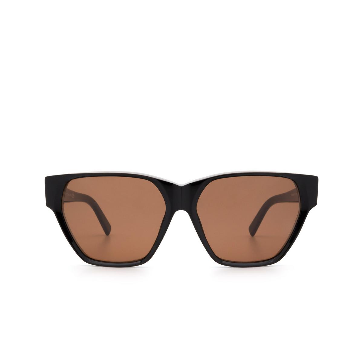 Sportmax® Square Sunglasses: SM0038 color Black 01E.