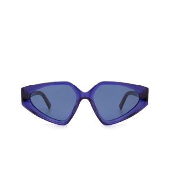 Sportmax® Irregular Sunglasses: SM0039 color Blue 92V.