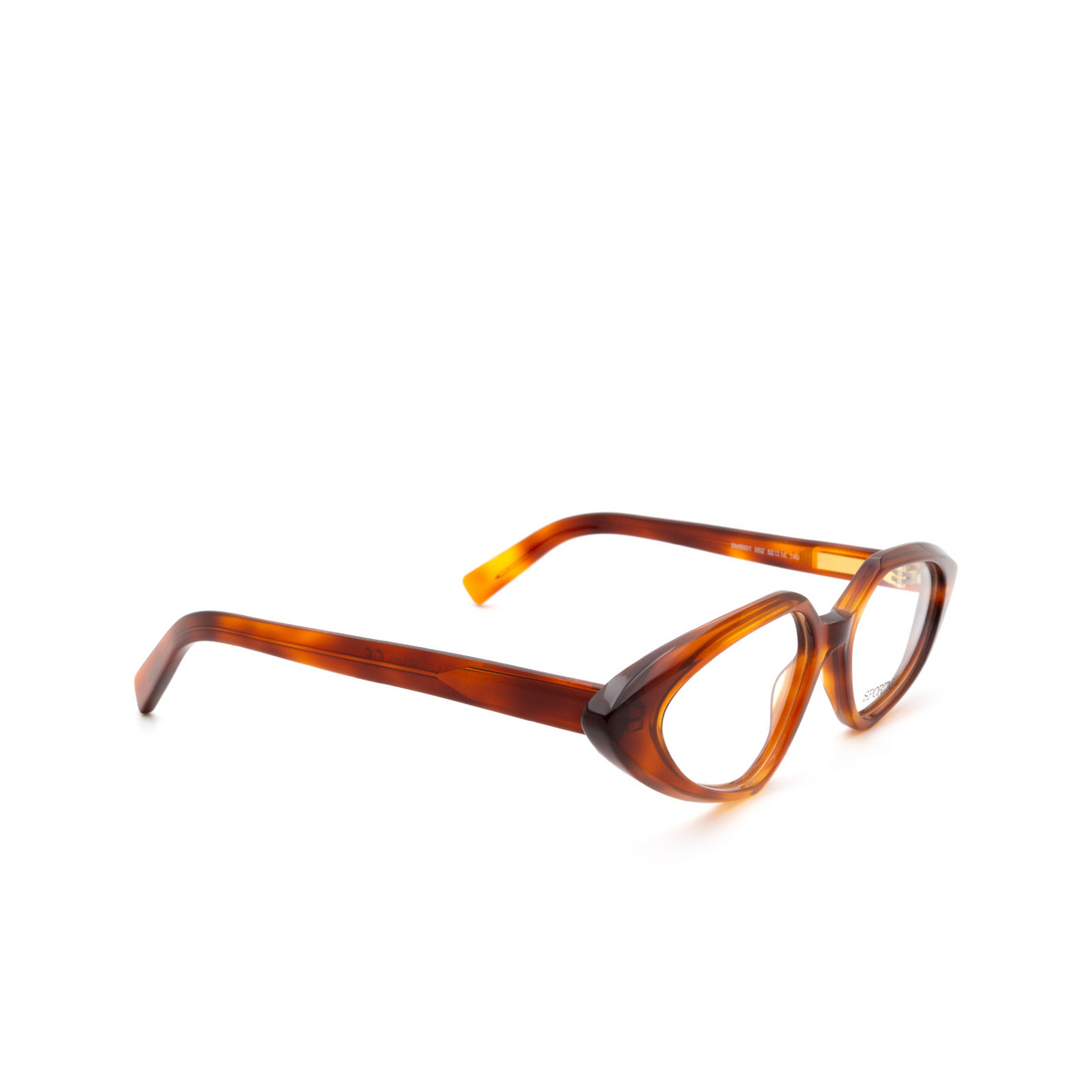 Sportmax® Irregular Eyeglasses: SM5001 color Dark Havana 052.