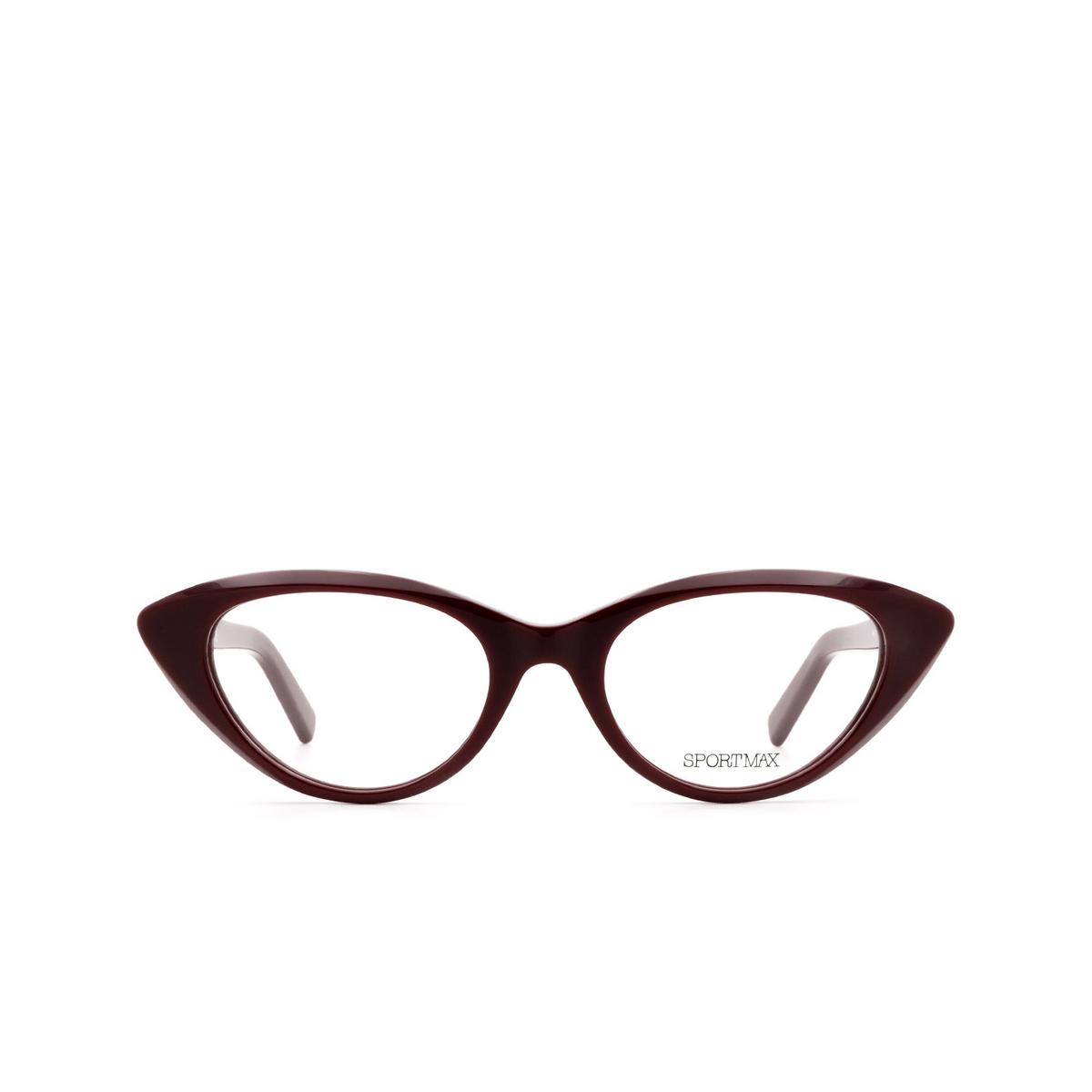 Sportmax® Cat-eye Eyeglasses: SM5002 color Red 066.