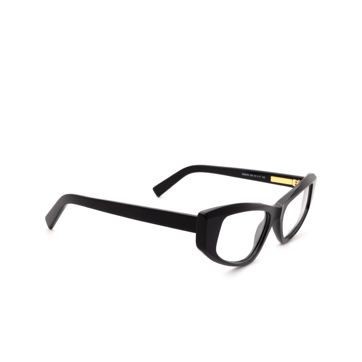 Sportmax® Cat-eye Eyeglasses: SM5003 color Black 001.