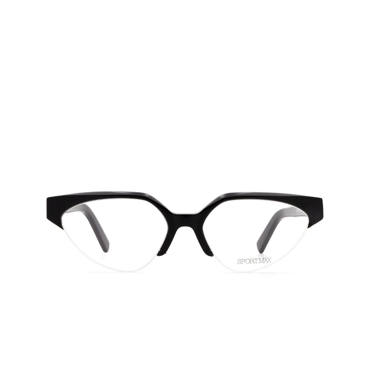 Sportmax® Irregular Eyeglasses: SM5004 color Black 001.
