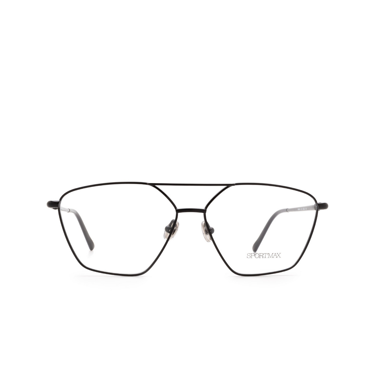 Sportmax® Irregular Eyeglasses: SM5009 color Black 001.