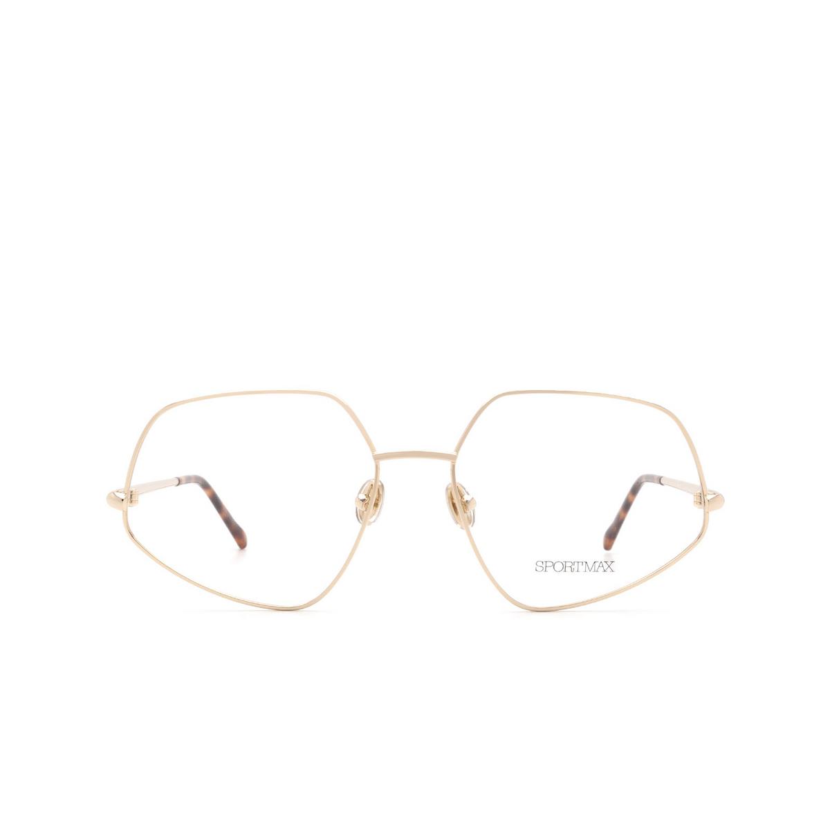 Sportmax® Square Eyeglasses: SM5010 color Light Gold 032.